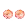 Fire Polished 12mm Crystal/Orange/Fuchsia Two-Tone Aurora Borealis